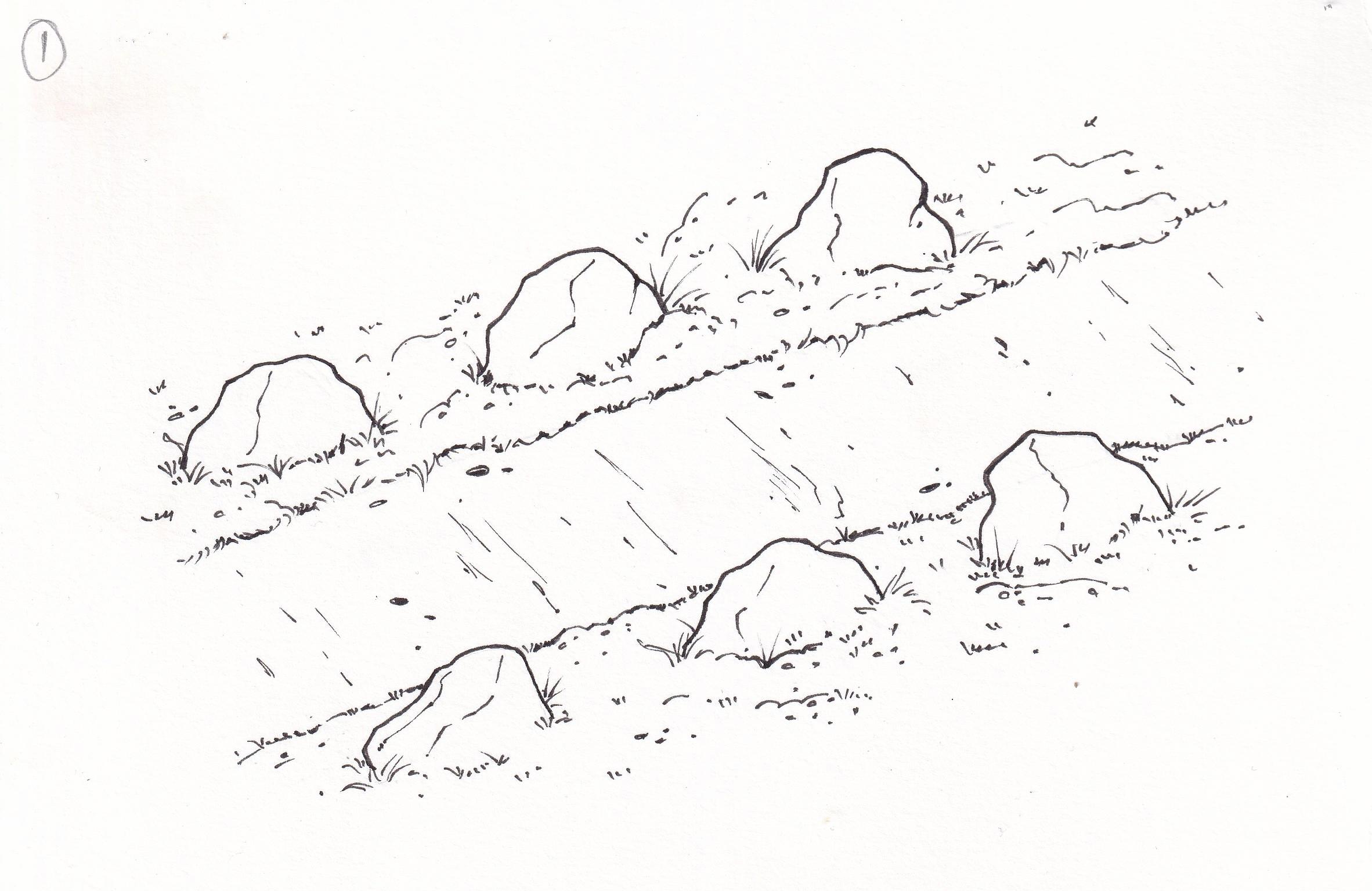 Uppröðun steina of einsleit