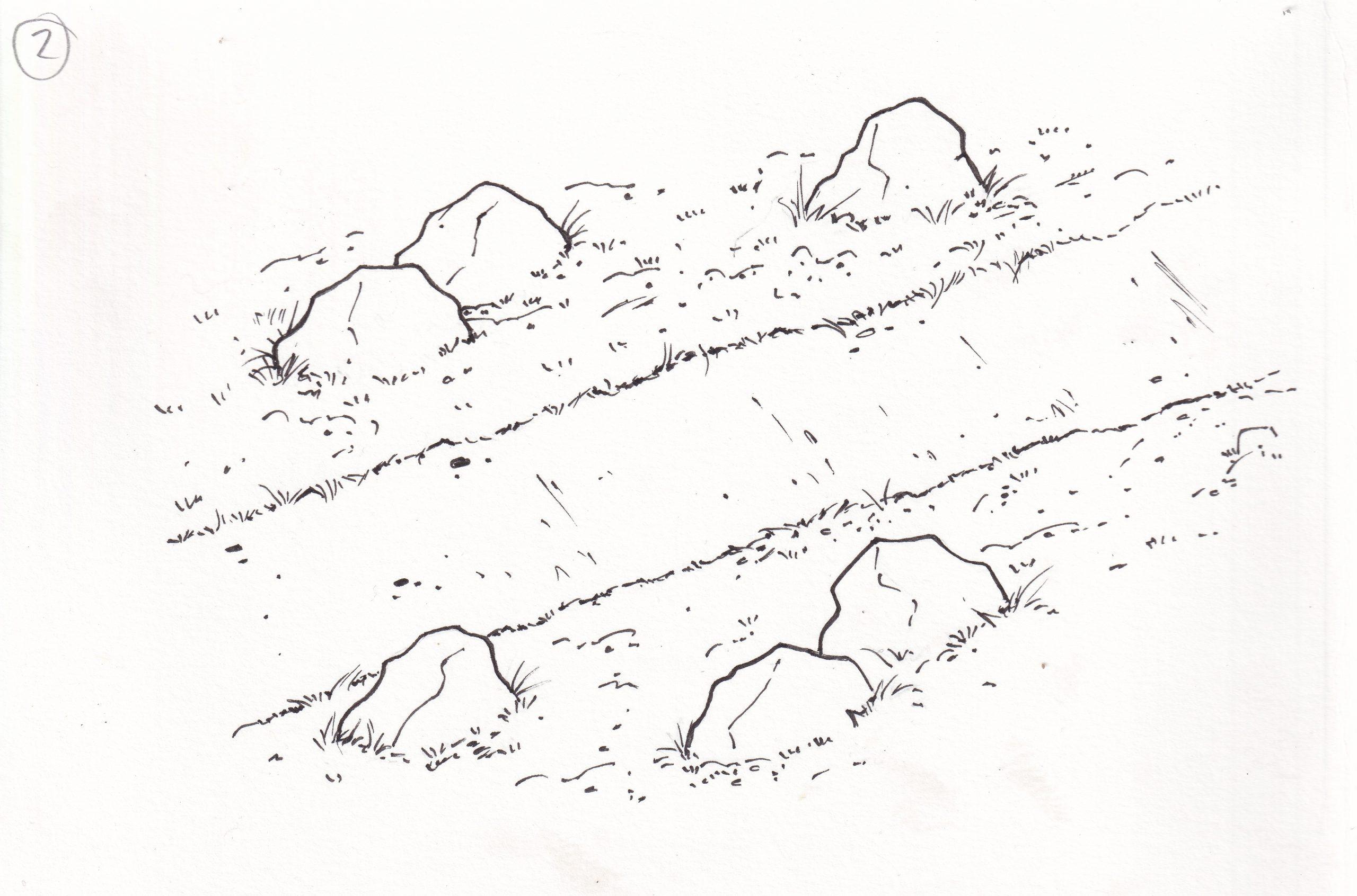 Náttúruleg uppröðun steina