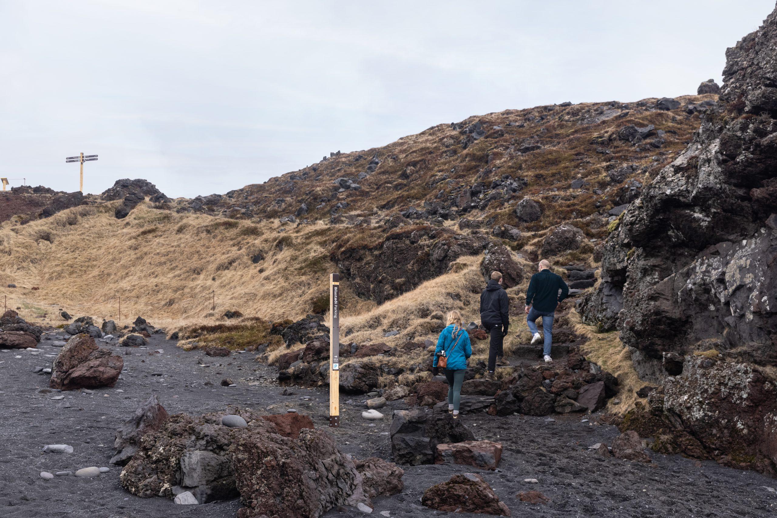 Merkt gönguleið við Djúpalónsfjöru