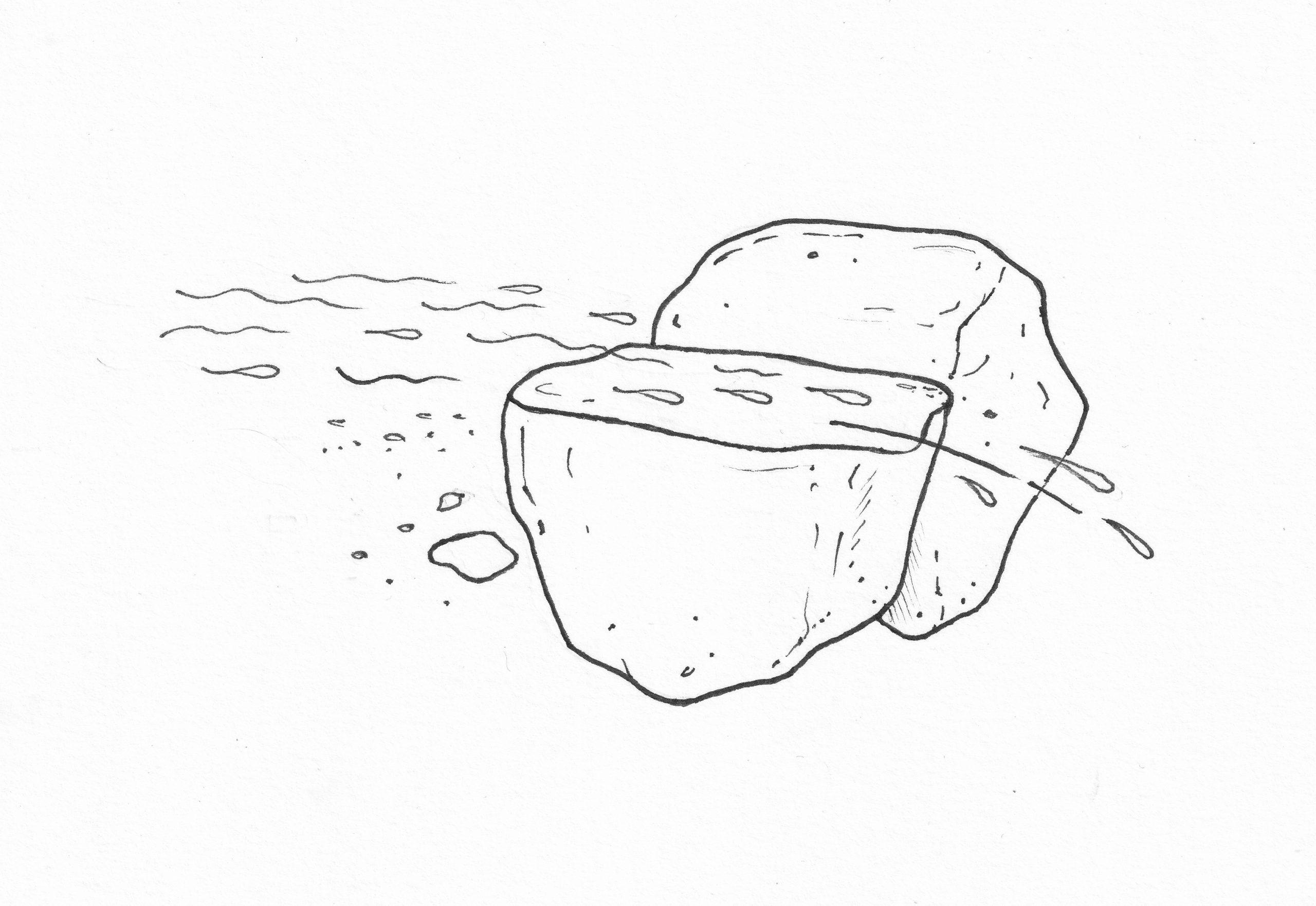 Rétt hæð á yfirborði steins